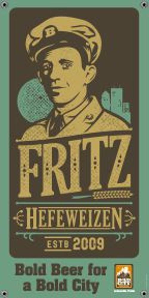 "Bold City Brewery 18.5"" X 36"" Fritz Hefeweizen Banner"
