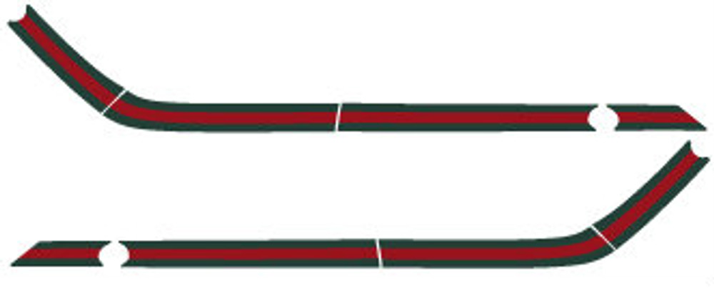 2011 to 2015 Fiat 500 Gucci Stripe Kit Diagram