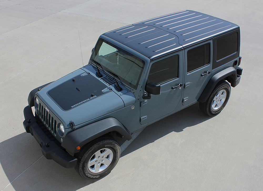 2008-2017 Jeep Wrangler Unlimited Outfitter Vinyl Hood Graphic Kit