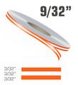 "9/32"" x 150' Double Line Single Color Vinyl Pinstripe Roll"