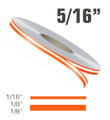 "5/16"" x 150' Double Line Single Color Vinyl Pinstripe Roll"