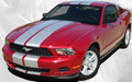 Stampede Racing Stripes for 2010, 2011, 2012 Ford Mustang Front View