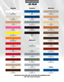 3M Pinstripes Stripes & Graphics Color Chart