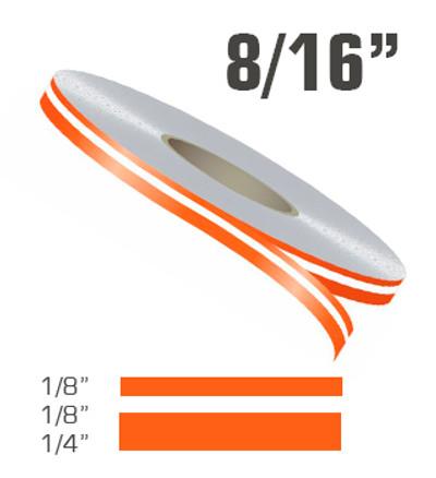 "8/16"" x 150' Double Line Single Color Vinyl Pinstripe Roll"