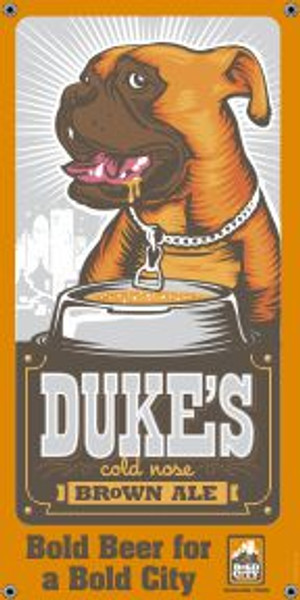 """Bold City Brewery 18.5"""" X 36"""" Dukes Banner"""