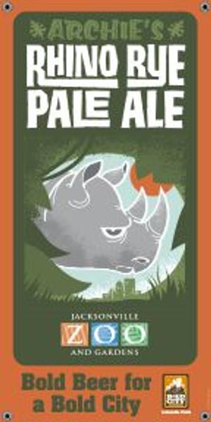 "Bold City Brewery 18.5"" X 36"" Rhino Rye Pale Ale Banner"