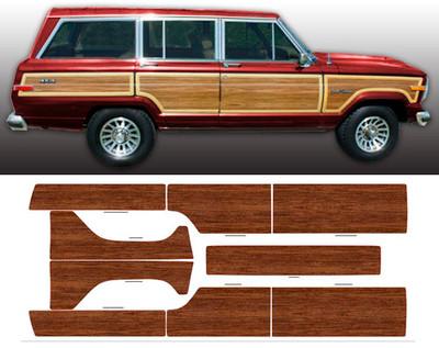 1981-1991 Jeep Grand Wagoneer Woodgrain Kit