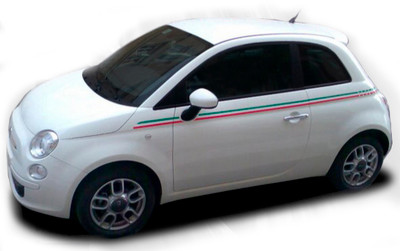 2011-2016 Fiat 500 Italian Side Stripe