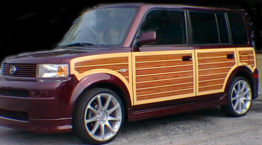 orange scion car 2005 2007 toyota scion xb woody woodgrain kit stripemancom