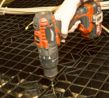 All you need is a power screw driver, screws are included with the panels