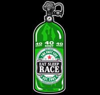 40 Shot Sticker | Black/Green