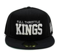 Full Throttle Kings Snapback Hat | Black/White