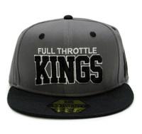 Full Throttle Kings Snapback Hat | Grey/Black