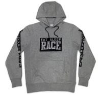 Pull Over Hoodie Team Varsity   Grey