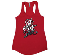 Ladies Script Tank Top | Red