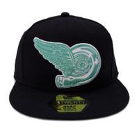 Turbo Wing Snapback Hat   Black/Teal