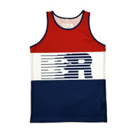 Speed Lines Performance Tank Top | Red/White/Blue