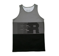 Speed Lines Performance Tank Top | Black/Grey
