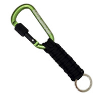 Locking Carabiner Paracord Keychain | Green