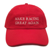 Make Racing Great Sport Strapback Hat | Red