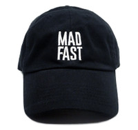 Mad Fast Sport Strapback Hat   Black