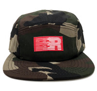 ESR 5-Panel Hat | Woodland Camo