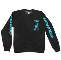 Pedal To The Metal Crewneck Sweatshirt | Charcoal/Teal
