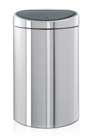 Brabantia 40 Litre Touch Bin in Brilliant Steel