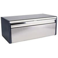 Brabantia Fall Front Bread Bin in Brilliant Steel