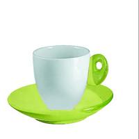 Guzzini Feeling 6 Espresso cup & Saucer set in Green