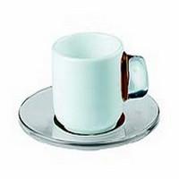 Guzzini InFusion 2 Brown Espresso Cup & Spoon Set