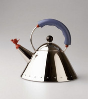 Alessi 'Bird' Stove Top Kettle, Blue Handle 9093FM