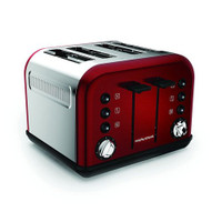 Morphy Richards 242004 Accents Red 4 Slice Toaster