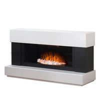Adam Verona White and Grey Electric Fire