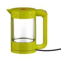 Bodum Bistro Double Wall 1.1lt Glass Kettle In Lime Green