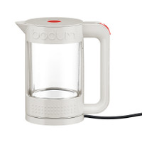 Bodum Bistro Double Wall 1.1lt Glass Kettle In White