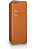 Swan SR11010ON Retro Top Mount Fridge Freezer in Orange