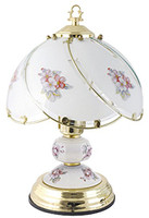 Lloytron Traditional Touch Table Lamp with Porcelain - Brass