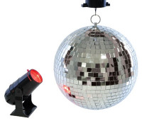 Lloytron Rotating 8 inch Mirror Ball and Projector Lamp