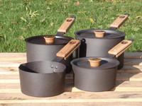 Netherton Foundry Spun Iron 4 Piece Pan Set