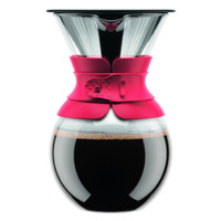 Bodum Pour Over Coffee Maker With Permanent Filter 1 Litre - Red