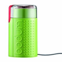 Bodum Bistro Electric Coffee Grinder in Shiny Lime Green
