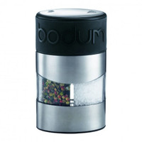 Bodum Twin Manual Salt and Pepper Grinder with Silicone Band