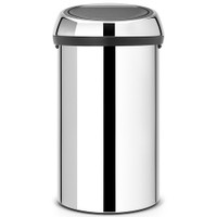 Brabantia 60 Litre Kitchen Touch Bin in Brilliant Steel