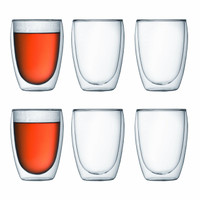 Bodum Pavina Glass Double Wall 0.35L Set of 6