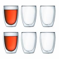 Bodum Pavina Glass Double Wall 0.35L Set of 6