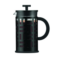Bodum 1 Litre 34 oz 8-Cup Stainless Steel Frame Eileen Coffee Maker in Black