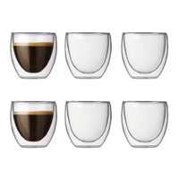 Bodum PAVINA Glass Set (Double-Walled Isolated 0.08 L/3 oz) - Pack of 6 Transparent