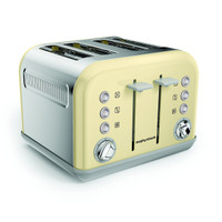 Morphy Richards 242033 Accents 4 Slice Toaster in Cream