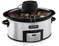 Crock-Pot 5.7 Litre Digital Slow Cooker with Auto-Stir in Stainless Steel